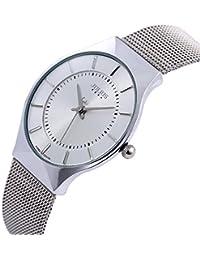 [ユリウス]JULIUS JA-577D メンズ 腕時計 人気 超薄型 シルバー ステンレス 日本製クオーツ 3気圧防水 ファッション ウォッチ