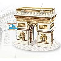 HuaQingPiJu-JP 創造的な教育3Dパズルアーリーラーニング建設子供のためのおもちゃファンタスティックギフト(凱旋門)