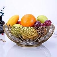 SLH 北欧のフルーツバスケットクリエイティブ多機能鉄の技術幾何学的な果物のプレートのリビングルームの装飾ファッション世帯 (Color : Golden)