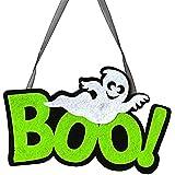 Vi.yo ハロウィン ドアデコレーション 壁飾り BOO 幽霊 不織布 ハロウィン 文化祭 学園祭 小道具 2個入り