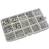 TABLE TREE アクセサリー 基本 パーツBox 14種類 + 指カン セット 手芸 材料 スターター 等にも(シルバー)