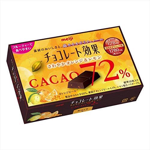 明治 チョコレート効果カカオ72%さわやかオレンジ&レモン X5箱