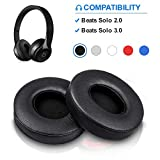 Beats Solo Replacement Ear Pads by Link Dream - Replacement Ear Cushions Kit Memory Foam Earpads Cushion Cover for Solo 2.0/3.0 Wireless Headphone, 2 Pieces