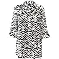 Cotton Silk 3/4 Sleeve Shirt Ikat
