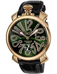 [ガガミラノ]GaGaMILAN 腕時計 MANUALE48MM グリーン文字盤 501104S-BLK メンズ 【並行輸入品】