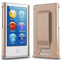 Apple iPod nano 7 ケース クリップ ハード カバー MY WAY 7th PC Clip Case + 保護 フィルム メタリック ゴールド