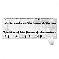 詩は唯一の白い鳥 ノンスリップゴムパッドのゲームマウスパッドプレゼント