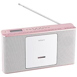 ソニー SONY CDラジオ ZS-E80 : FM/AM/ワイドFM対応 語学学習用機能搭載 ピンク ZS-E80 P