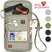 Lewis N. Clark Travel RFID Blocking Luxe Neck Stash