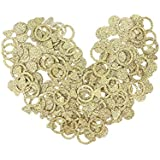 BESTOYARD 100個 紙吹雪 キラキラ 散布 結婚式/告白 投げる飾り 指輪 DIY 工芸品 テーブル 装飾