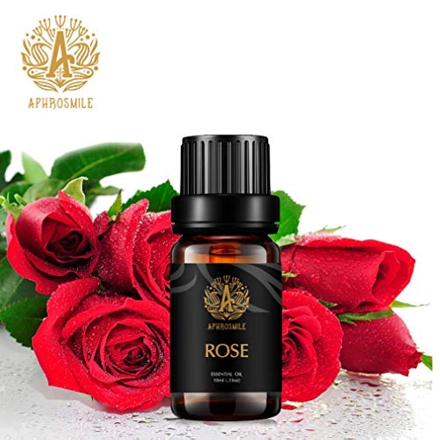 ローズエッセンシャルオイル、100%ピュアアロマセラピーエッセンシャルオイルローズの香り、肌に栄養を与え、治療用グレードエッセンシャルオイルローズの香り、為にディフューザー、マッサージ、加湿器、デイリーケア、0.33オンス...