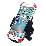 Keynice 自転車ホルダー 360度回転可能 バイク バー マウント マウントキット iPhone6Plus Xperia GALAXY Note3 GPSも入る大きめサイズ対応 ブラック KN-572-BK