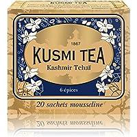 (KUSMI TEA) クスミティー カシミール チャイ ティーバッグ (個別包装なし) 2.2g×20袋入り [正規輸入品]