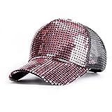 スパンコール 野球帽 キラキラ キャップ (スクリーンローズ)