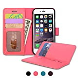 SHANSHUI iPhone6 /6s ケース 手帳型 カード分離式 ピンク