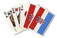 クロアチア国フラグ–活版( Playingカードデッキ–52カードPokerサイズwithジョーカー)