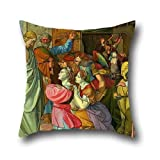Oil Painting Peter Von Cornelius - The Parable Of Wise And Foolish Virgins (unfinished) Pillow Covers 16 X 16 Inch / 40 By 40 Cm For Home,living Room,play Room,outdoor,bench,seat With Both Sides [並行輸入品]