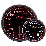 AUTOGAUGE(オートゲージ) 日本製モーター 52mm 油温計 2色バックライト エンジェルリング ワーニング付 458シリーズ