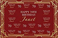 mehofotoカスタマイズBurgundy 40th 50th 60th 70th 80th Birthdayバックドロップカラー誕生日カスタム名番号サイズ写真背景誕生日パーティー装飾Backdrops