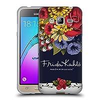 Official Frida Kahlo ブルーム レッド・フローラル ソフトジェルケース Samsung Galaxy J3