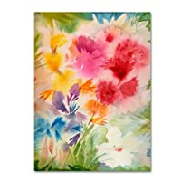 商標Fine Art Bright Garden by Sheila Goldenキャンバス壁アート 35 by 47-Inch SG5652-C3547GG