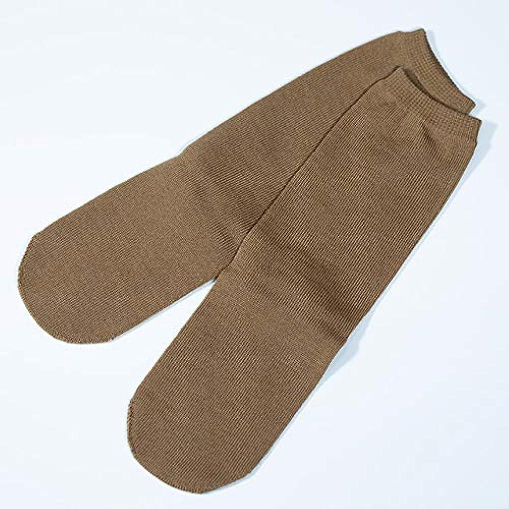 挨拶動的お誕生日utatane 冷えとり靴下 大人用 ウール100% 先丸ソックス カラー (キャメル)