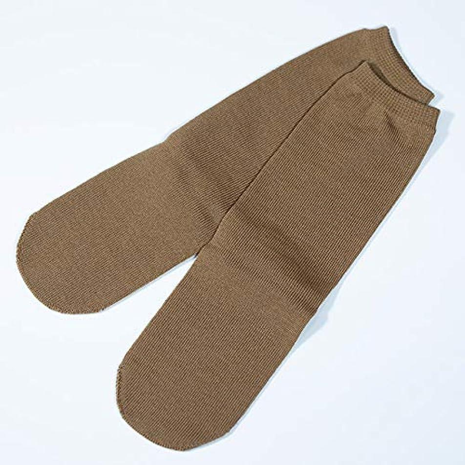 不誠実人ゲームutatane 冷えとり靴下 大人用 ウール100% 先丸ソックス カラー (キャメル)