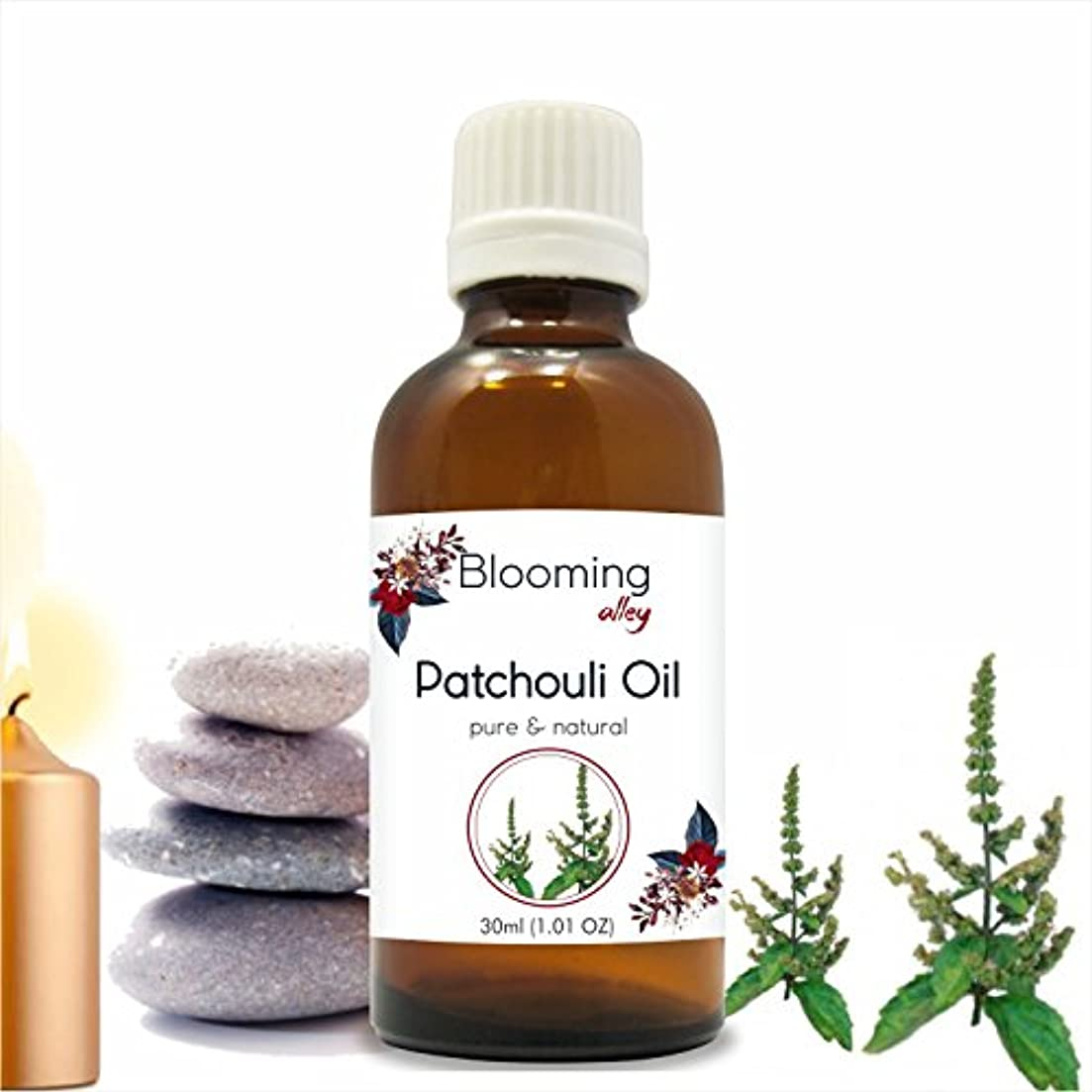 検閲かるミニPatchouli Oil (Pogostemon Cablin) Essential Oil 30 ml or 1.0 Fl Oz by Blooming Alley