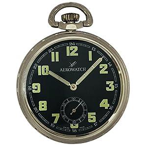 [アエロウォッチ]AEROWATCH 懐中時計 機械式手巻 オープンフェイス スモールセコンド 50685 CH06 【正規輸入品】
