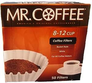 Mr. Coffee [ミスターコーヒー] バスケットスタイル コーヒーフィルター 12カップ 50枚入り Made In USA 【並行輸入品】