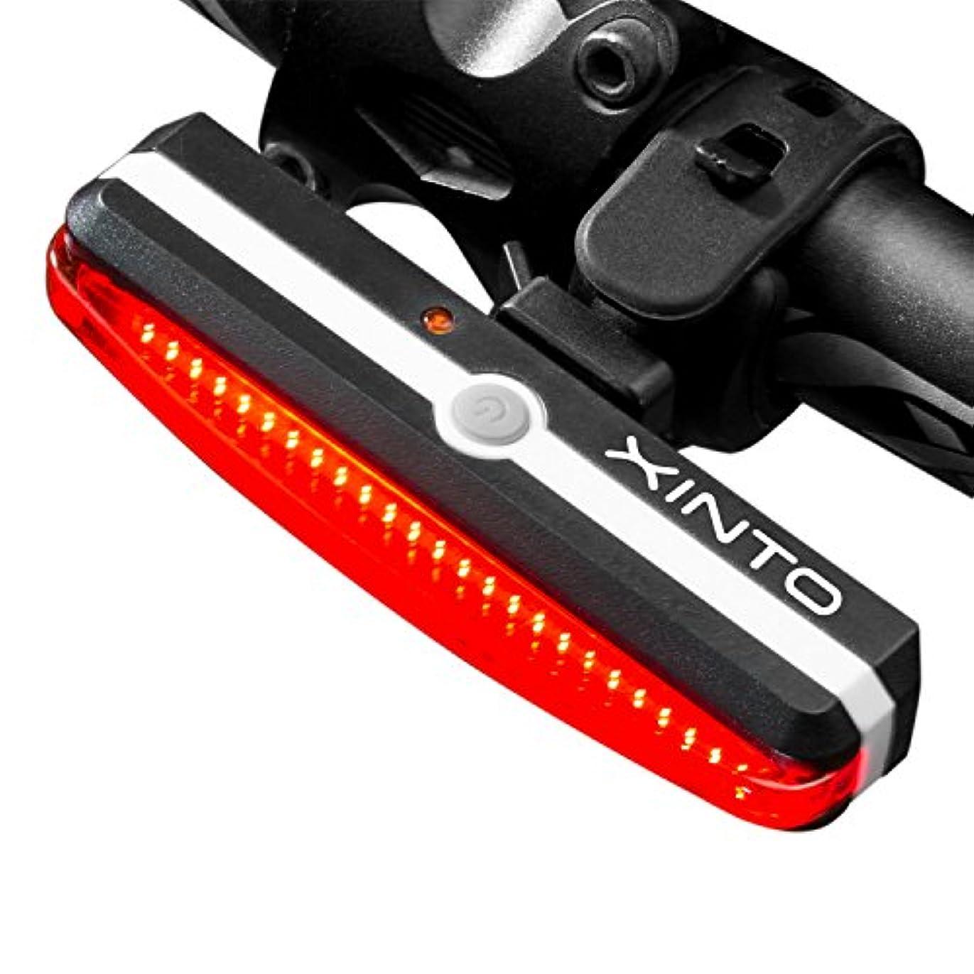 教えて住所扇動する超明るい自転車ライト、USB充電式防水スポーツLEDレッドフィット自転車用ヘルメット6ライトモードオプション安全自転車
