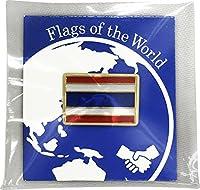 世界の国旗 ピンバッジ Sサイズ 8×12mm:タイ