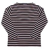 (セントジェームス)SAINT JAMES バスクシャツ ウエッソン ギルド 2501 メンズ レディース 07.ノワール×プルヌス 4 [並行輸入品]