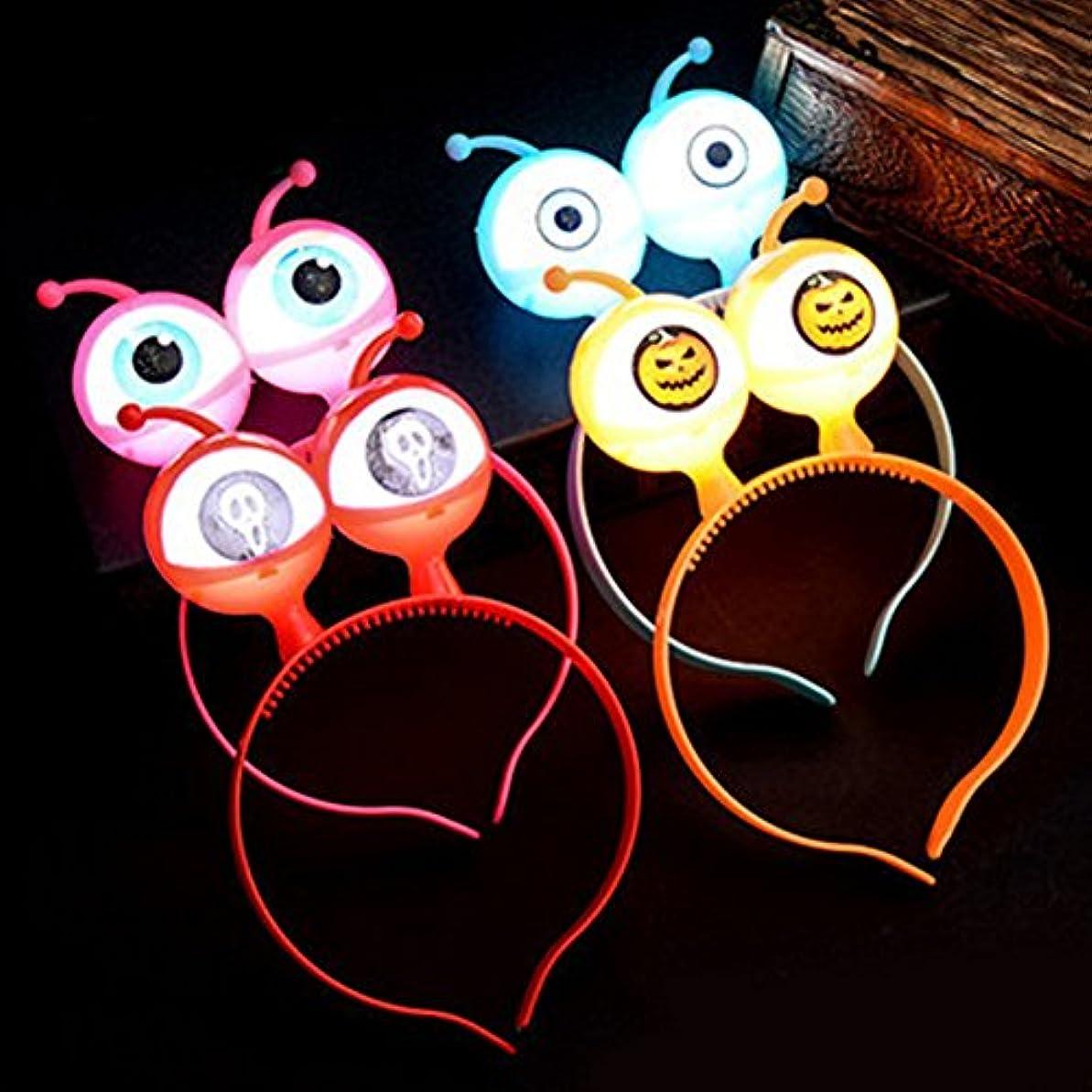 磁気原油快いLiebeye ライトアップカチューシャ 光るヘアバンド クリスマス 子供のヘアフープ ハロウィーンのギフト 漫画 キッズ 15#