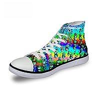 [FOR U DESIGNS]個性的なデザイン キャンバス スニーカー レースアップ シューズ canvas shoes ハイカット メンズ レディース 創意