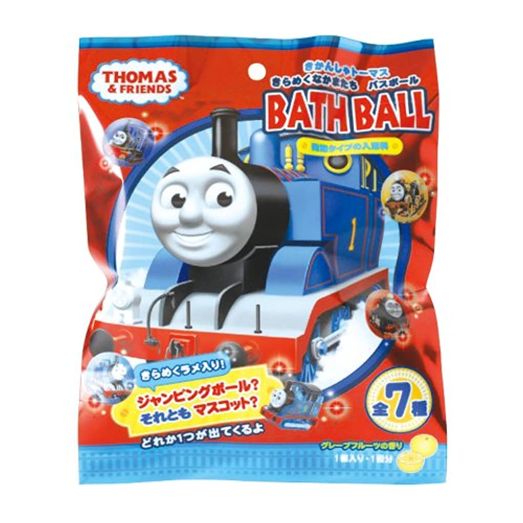 機械最初に欠如きかんしゃトーマス 入浴剤 きらめくなかまたち バスボール おまけ付き グレープフルーツの香り OB-TOB-3-1