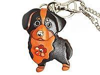 バーニーズ マウンテンドッグ 犬 本革製 バッグチャーム VANCA CRAFT 革物語(日本製 ハンドメイド)