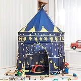 NXqilixiang テント 子供用 お城 テント 幼児用 ロケット 船 プレイハウス 子供 男の子 女の子 屋内 屋外 プレイハウス キャリーケース付き 誕生日プレゼントに最適 ブルー QLXT01