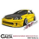CALTA-ステッカー-シビックEK9-黄色 (3.Lサイズ)