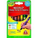 CRAYOLA 81-1308 My First Washable Triangular Crayons, 8pk, Learning Grip, 2 years, 3 years, 4 years, pre-school, kindergarten