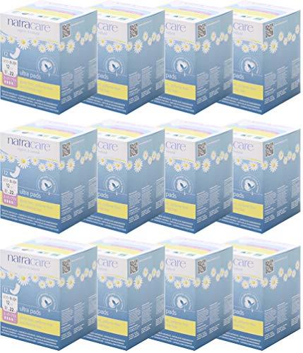 ナトラケア 生理用ナプキン オーガニック ふつうの日~多い日用 羽根無し ウルトラパッド スーパープラス 12個入り×12セット