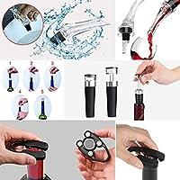 Lljin ワインボトルオープナー 赤ワイン注ぎ口 エアポンプ 圧力ホイルカッター 真空ストッパー