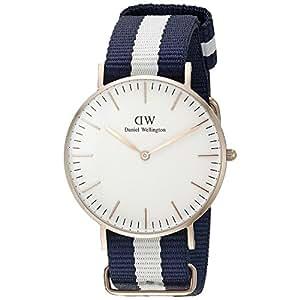 (ダニエルウェリントン) Daniel Wellington 腕時計 Classic Glasgow Lady 36mm NATOベルト レディース ボーイズ ブルー ホワイト ローズゴールド ナイロン 0503dw ブランド [並行輸入品]