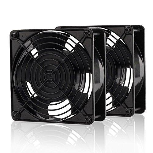 EASYDIY 120mm ファン, 200CFM 4000RPM CPU 冷却 PCファン,大風量,4ピン Molexコネクタ, bitcoin mining-2個セット