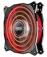 LEPAチョッパーアドバンス120mm高性能LED PCケースファン、赤 - LPCPA12P-R
