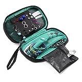 bagsmartトラベルジュエリーオーガナイザーストレージケースジュエリーボックスイヤリング&ネックレス&リング ブルー BAGin020060005-FUS