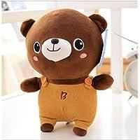 HuaQingPiJu-JP 愛らしい50センチメートルぬいぐるみソフトベアおもちゃぬいぐるみアニメベア人形子供ギフト(ブラウン)