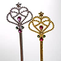 [ロードアイランドノベルティー]Rhode Island Novelty Costume Fairy Princess Queen Magic Wand Scepter 12 Pack, color may vary PRNC-WAND [並行輸入品]