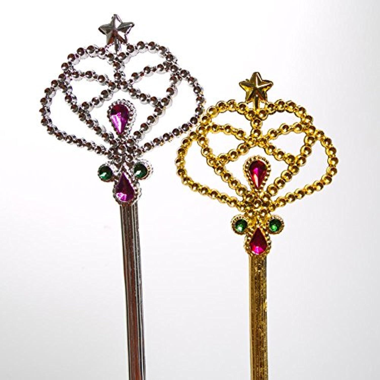 [ロードアイランドノベルティー]Rhode Island Novelty Costume Fairy Princess Queen Magic Wand Scepter 12 Pack, color may vary PRNC-WAND [並行輸入品]