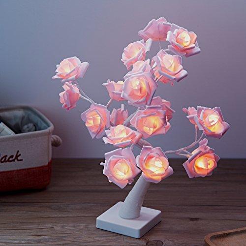 ハロウィン LEDイルミネーションツリー ベッドサイドランプ...